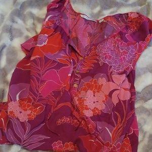 Isaac Mizrahi Live! 3/4 sleeve Delhi Bouquet Top